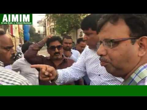 Syed Sohail Quadri AIMIM Corporator Scolded Water Works officer for Negliegence