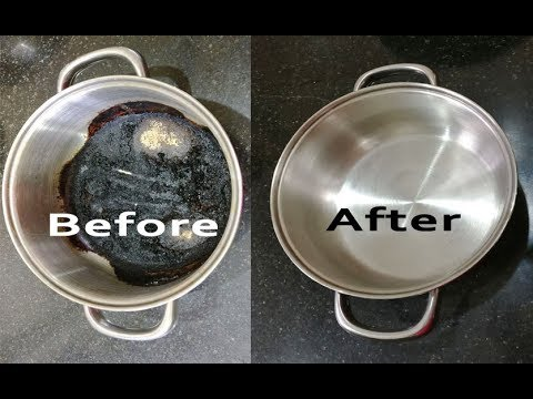 How to Clean Burnt Pan Easily - Useful kitchen Tip-Easiest way to clean burnt pan