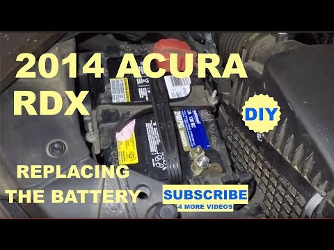 How to replace battery on 2014 Acura RDX
