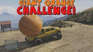 Grand Theft Auto 5 | The Giant Orange Ball Challenge! | Hidden Easter Egg