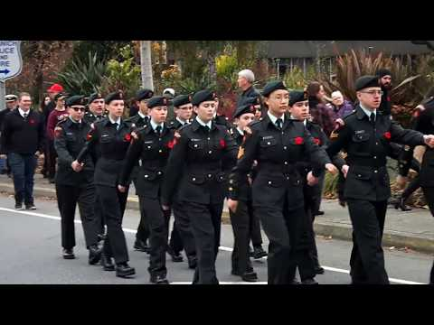 Remembrance Day Parade 2017 Saanich BC W/ Eric