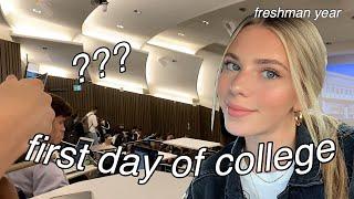 FIRST day of COLLEGE VLOG/GRWM *freshman year*