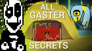 All Gaster SECRETS in Deltarune! (Deltarune secrets)