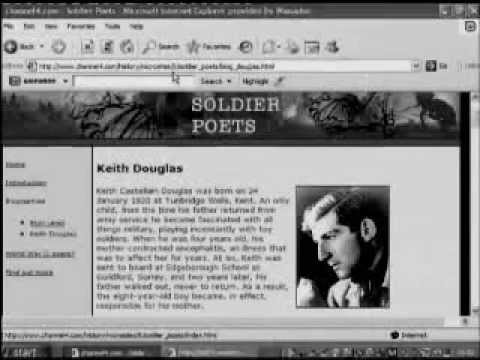 Keith Douglas - Landscape with figure - WW2 - Soldier - Poet - Radio - Documentary