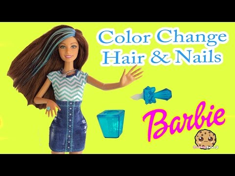 Color Change Hair & Nails Barbie Glitz Glam Doll  - Cookieswirlc Unboxing Video