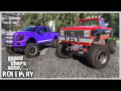 GTA 5 Roleplay - 'MONSTER' Lifted Trucks Swamp Mudding Trip   RedlineRP #311 thumbnail