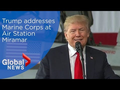 President Trump addresses Marine Corps at Air Station Miramar (FULL)