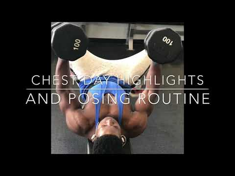 High lights chest workout for mass / posing men's physique routine