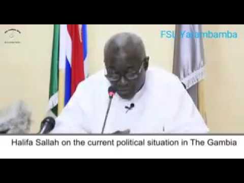 Gambia: Halifa Sallah Press Conference 16 January 2017