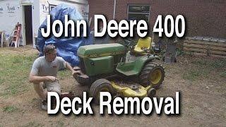 John Deere 400 60 Inch Deck Removal