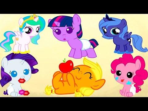 My Little Pony Transforms Princess Celestia Luna Mane 6 Baby Teen Alicorn -  Coloring Books For Kids - YouTube