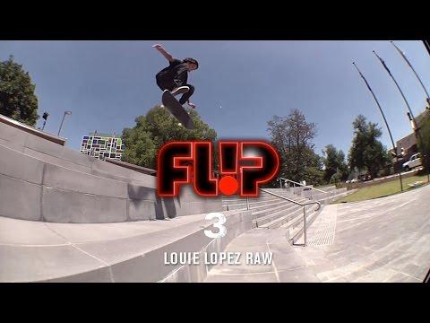 Louie Lopez Flip '3' Raw - TransWorld SKATEboarding
