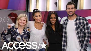 Ashley Iaconetti, Bryan Abasolo and Rachel Lindsay sit with Access ...