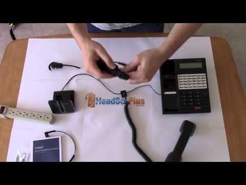 How To Setup Plantronics Cs540 Wireless Headset Youtube