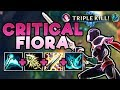 NEW CRITICAL FIORA BUILD IS UNBEATABLE! 1-SHOT ENEMY TEAM WITH 100% CRIT FIORA TOP League of Legends