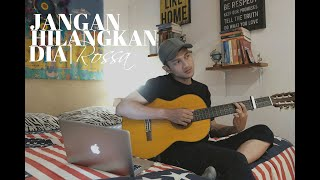 Download Mp3 Jangan Hilangkan Dia - Rossa   Cover By Aldhi   | Akustik Full Version Lirik