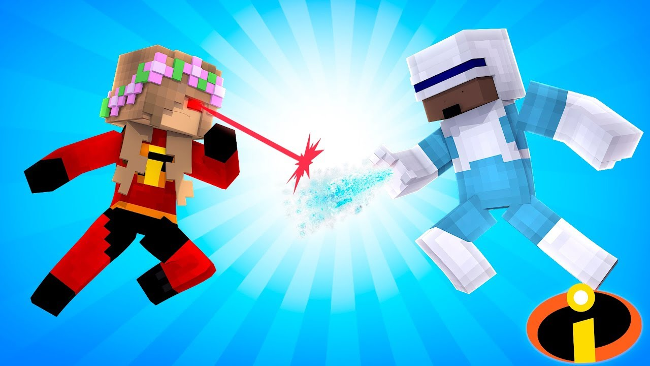 little-kelly-fights-frozone-incredibles-minecraft-little-kelly