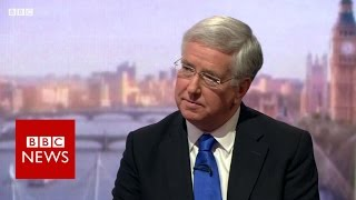 Sir Michael Fallon on Saudi Arabia and Boris Johnson - BBC News