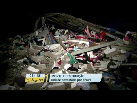 Primeiro Impacto (06/06/16) SP: Temporal e vento forte causam destruição em Jarinu