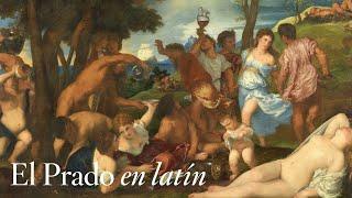 la bacanal de los andrios de tiziano con comentarios en latín