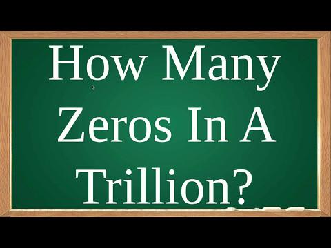 How Many Zeros In Trillion