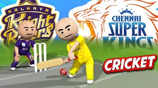3D ANIM COMEDY - CRICKET IPL KKR VS CSK || LAST OVER