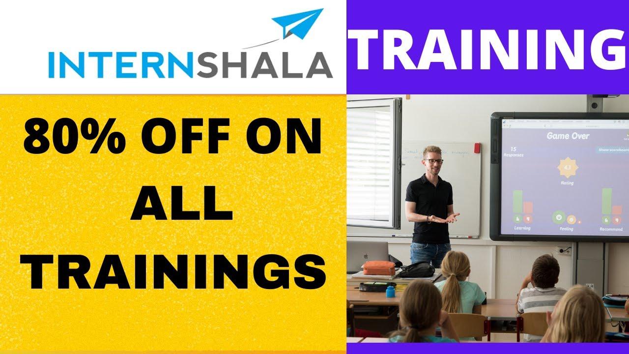 Internshala training   internshala online training   internshala training certificate   80% off
