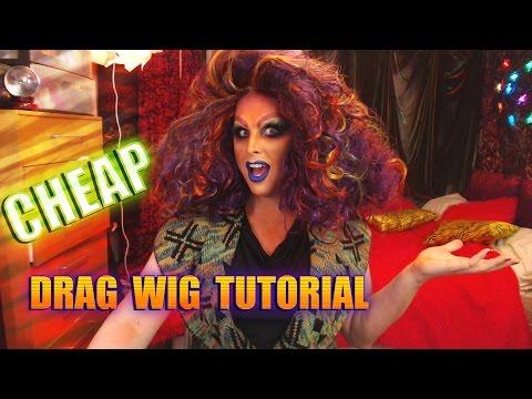Cheap D.I.Y drag wig tutorial #1