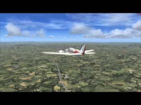 MS Flight Simulator X Dunkeswell Airfield Take off and Landing