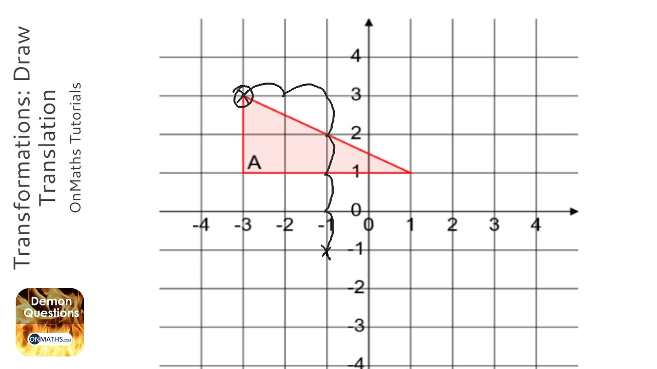 Transformations Draw Translation Grade 4 Onmaths Gcse Maths Revision Youtube