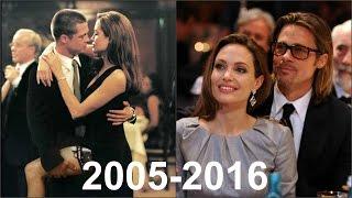 Анджелина Джоли и Брэд Питт История любви в фотографиях