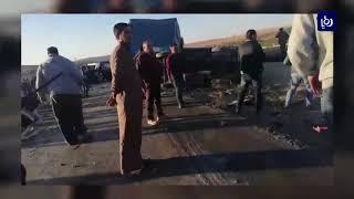 عشرات الإصابات في حادث على الطريق الصحراوي