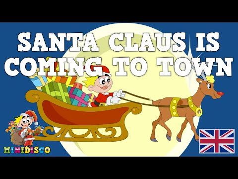 Santa Claus Is Coming To Town | Christmas songs for children | Cartoons for kids by Minidisco