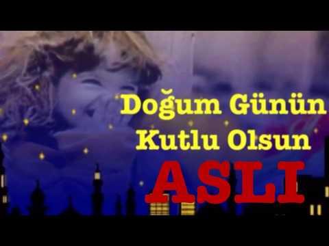 ASLI İyi ki Doğdun :) 3.VERSİYON Komik Doğum günü Mesajı ,DOĞUMGÜNÜ VİDEOSU Made in Turkey :) 🎂
