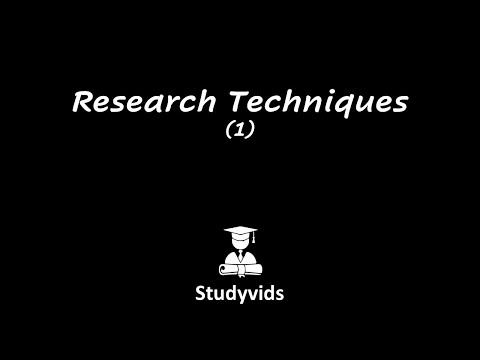 N0611B  Research Techniques