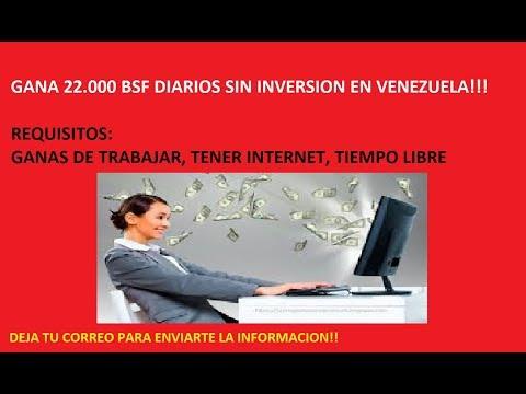 Ganar 22.000 Bsf diarios sin inversion trabajando desde casa en Venezuela