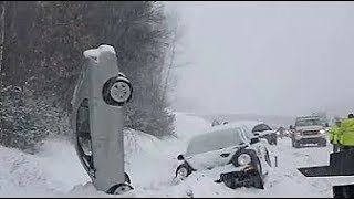 ULTIMATE WINTER CAR CRASHES, IDIOT DRIVERS