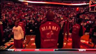 December 18, 2013 - ESPN - Miami Heat Player Intro (Vs. Pacers)