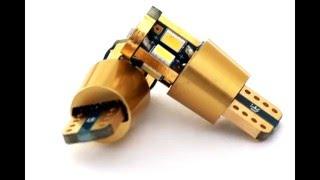 Автомобильные LED лампы в габариты Gold Pro T10 на светодиодах Samsung 3623 SMD
