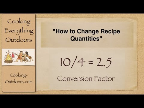 how to work out conversion factor from