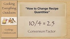 How to Convert Recipes Using a Conversion Factor | Easy Cooking Tips