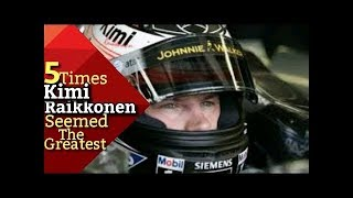 5 Times Kimi Raikkonen Seemed The Greatest