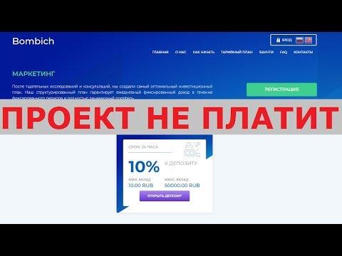Инвестиционный проект Bombich платит +10% дохода в сутки? Честный отзыв.
