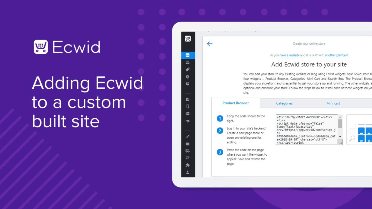 Ecwid for custom website – Ecwid Help Center