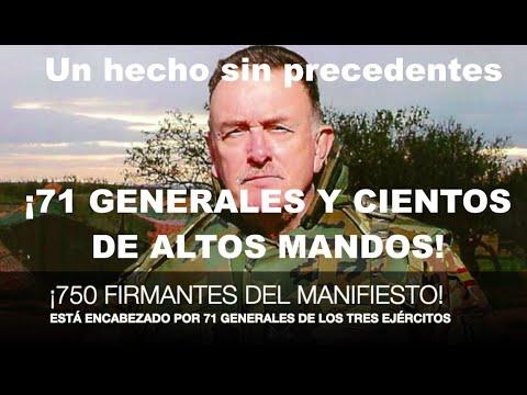 ¡EL MANIFIESTO DE LOS GENERALES SE CIERRA CON 750 FIRMAS!