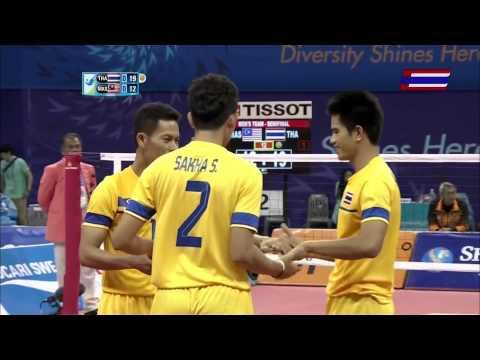 ตะกร้อชาย ไทย-มาเลเซีย Group B 2014 ASIAN GAMES