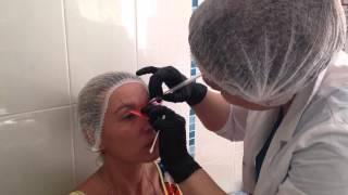 обучение татуаж нанесение предварительного рисунка брови