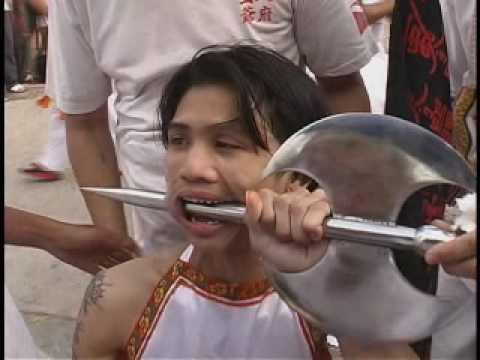 Most Amazing Extreme Face Piercing Phuket Chinese Vegetarian Festival Thailand