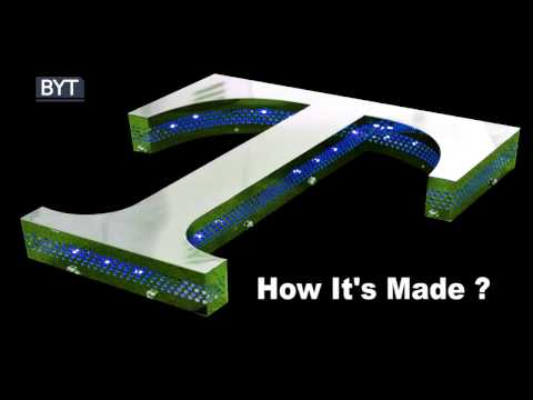 LED stainless steel advertising letter making, by CNC router, bending machine and laser welder