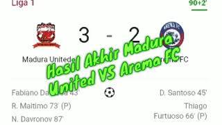 Download Video Hasil Akhir Madura United VS Arema FC MP3 3GP MP4